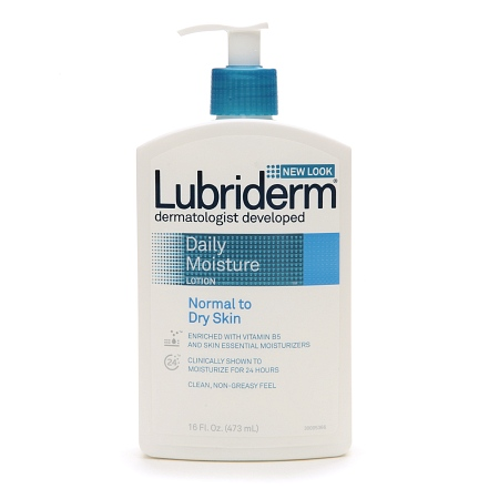 Lubriderm Daily Moisture Lotion for Normal to Dry Skin (scented) - 16 oz