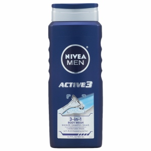 Nivea Men Active 3 Body Wash - 16.9 oz
