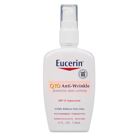 Eucerin Q10 Anti-Wrinkle Sensitive Skin Lotion SPF 15 - 4 oz