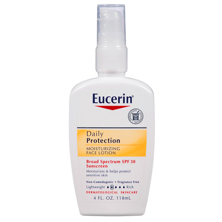 Eucerin Daily Protection Moisturizing Face Lotion, SPF 30 - 4 oz