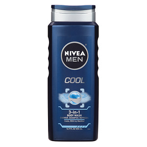 Nivea Men Body Wash, Cool - 16.9 oz