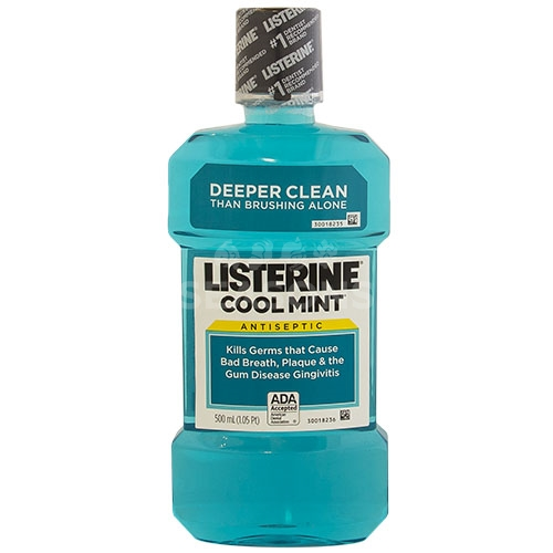 Listerine Cool Mint Antiseptic Mouthwash - 500 ml (1.05 pt)