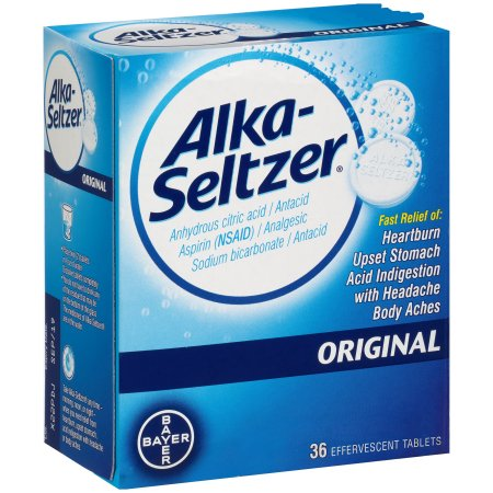 Alka-Seltzer Original - 36 Effervescent Tablets