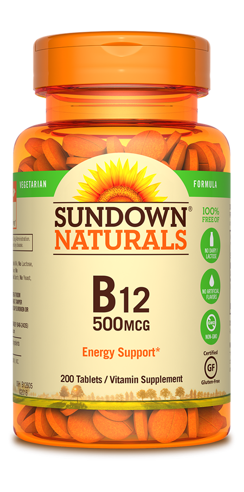 Sundown Naturals B-12 500mcg - 200 Tablets