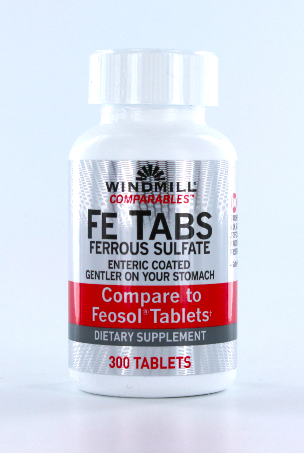 Windmill Comparables Fe Tabs Ferrous Sulfate - 300 Tablets