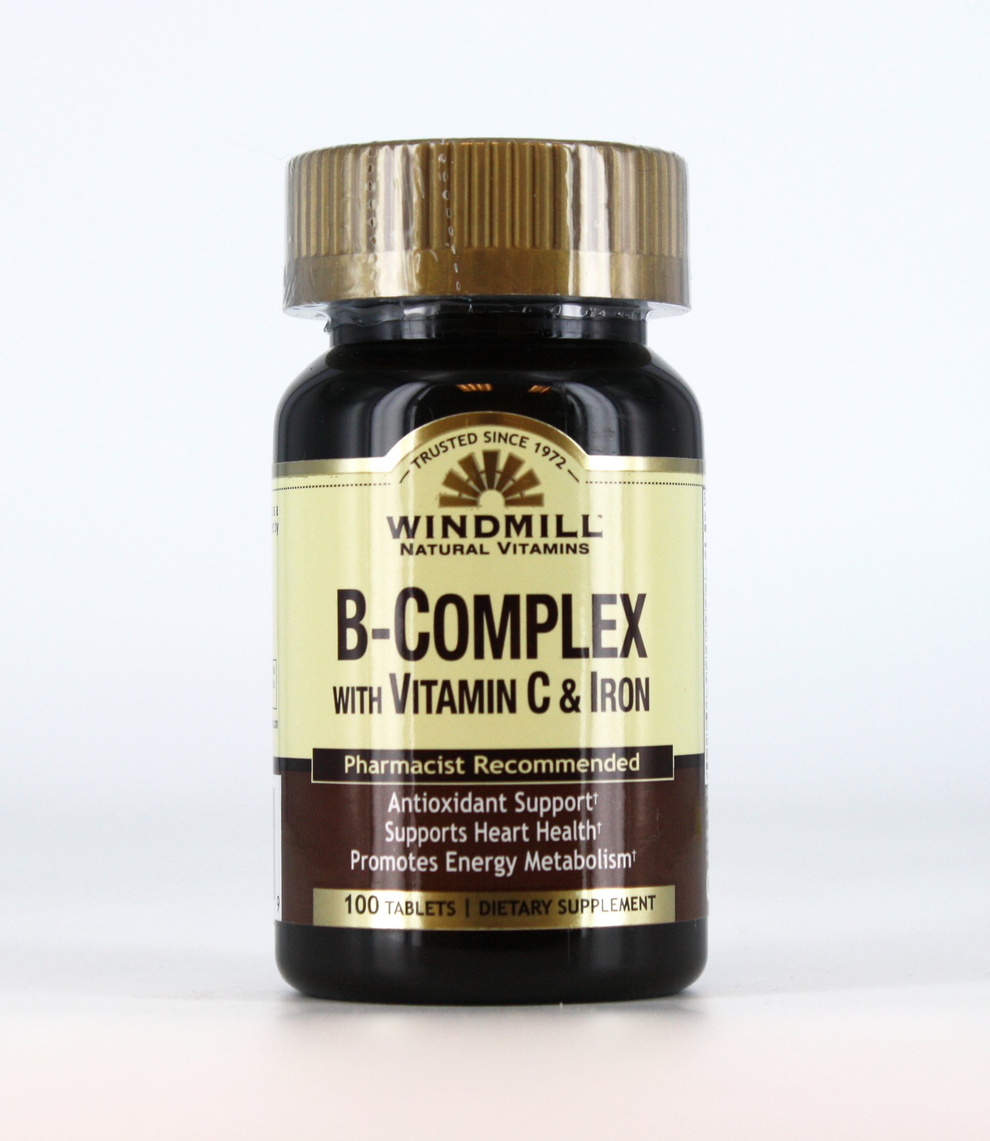 Windmill B- Complex w/ Vitamin C & Iron - 100 Tablets
