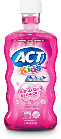 Act Kids Bubble Gum Blowout Rinse - 16.9 Fl Oz (500 mL)