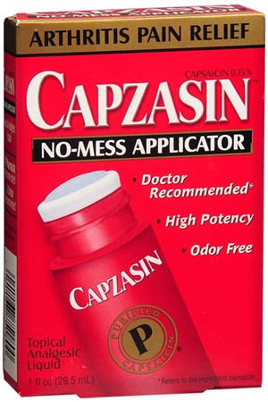 Capzasin No Mess Applicator Arthritis Pain Relief - 1 Fl Oz (29.5 mL)