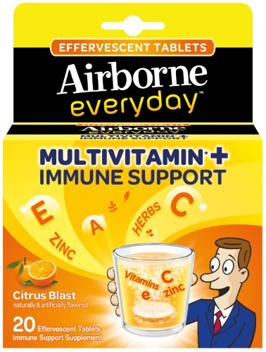 Airborne Everyday Multivitamin + Immune Support Citrus Blast Flavor - 20 Effervescent Tablets