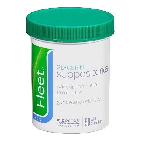 Fleet Adult Glycerin Suppositories Laxative - 50 Suppositories