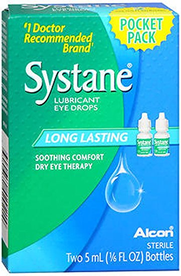 Systane Long Lasting Soothing Comfort Dry Eye Therapy - Two 5 mL (1/6 Fl Oz) Bottles