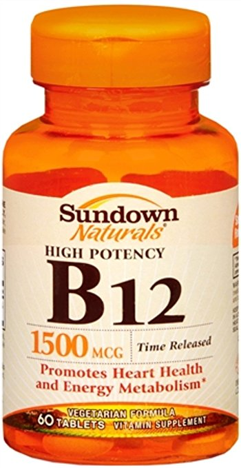 Sundown Naturals B12 1500 mcg - 60 Timed release Tablets