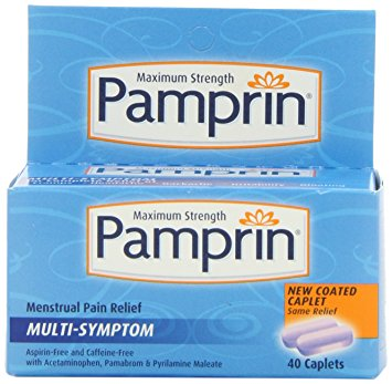 Pamprin Maximum Strength Multi-Symptom Menstrual Pain Relief - 40 Caplets
