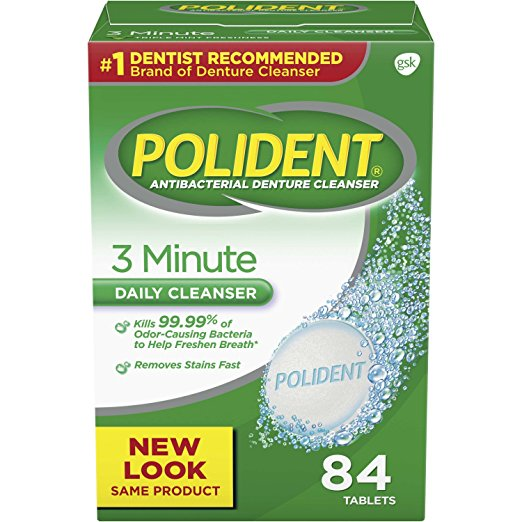 Polident 3 Minute Daily Cleanser - 84 Tablets