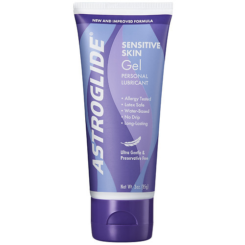Astroglide Sensitive Skin Gel Personal Lubricant, Ultra Gentle & Preservative Free - 3 oz