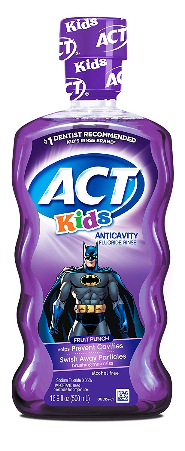 Act Kids Fruit Punch Batman Rinse - 16.9 Fl. Oz