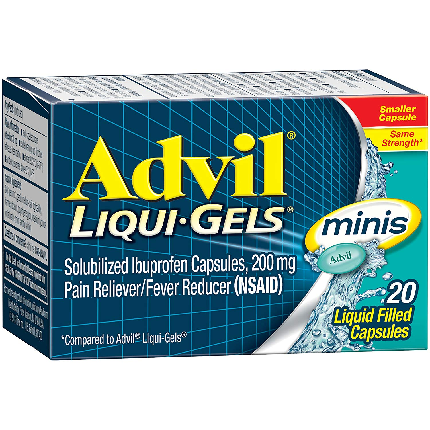 Advil Liqui-Gels Minis - 20 Liquid Filled Capsules