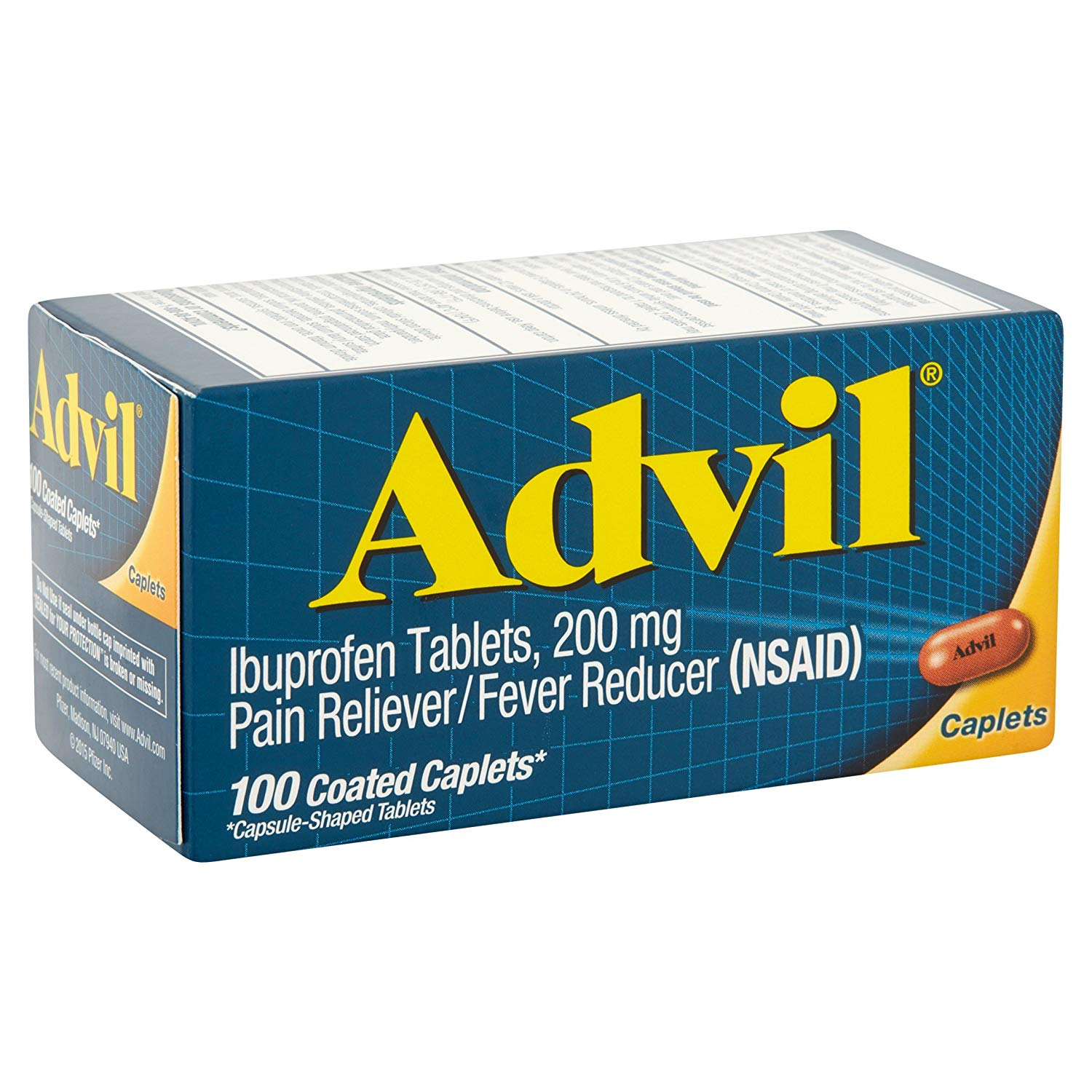 Advil Ibuprofen 200mg - 100 Coated Caplets