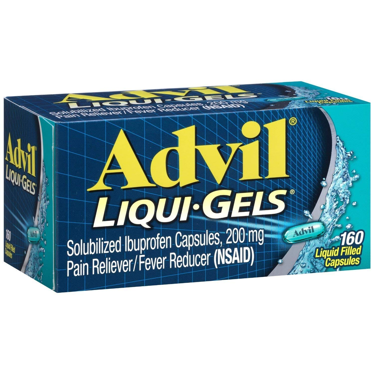 Advil Liqui-Gels Ibuprofen - 160 Liquid Filled Capsules