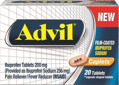 Advil Film-Coated Ibuprofen Sodium - 20 Coated Tablets