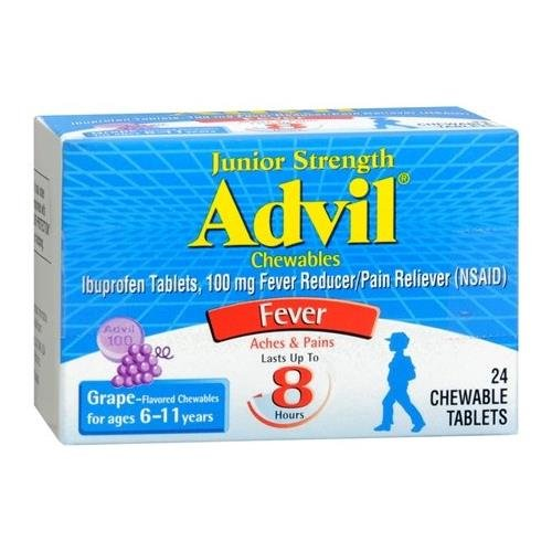 Advil Junior Strength Grape Flavor - 24 Chewable Tablets