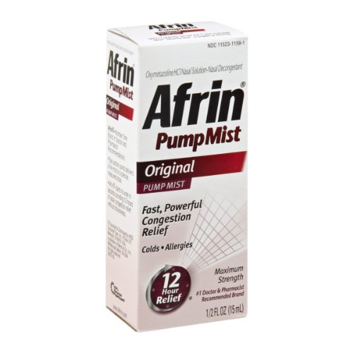 Afrin Pump Mist Original- 1/2 Fl Oz (15 mL)