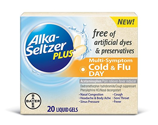Alka-Seltzer Plus Cold & Flu Day - 20 Liquid Gels