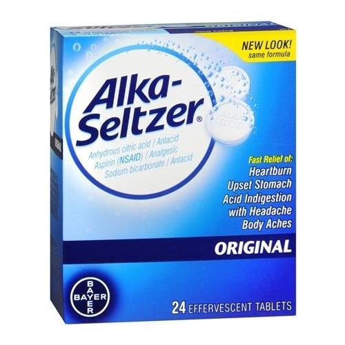 Alka-Seltzer Original - 24 Effervescent Tablets