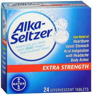 Alka-Seltzer Extra Strength - 24 Effervescent Tablets