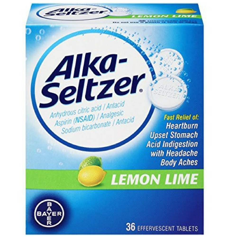 Alka-Seltzer Lemon Lime - 36 Effervescent Tablets