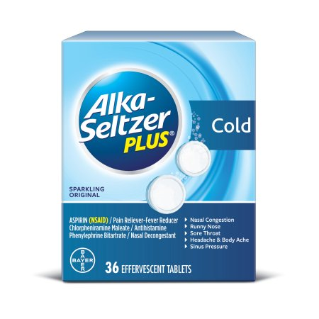 Alka-Seltzer Plus Cold Original - 36 Effervescent Tablets