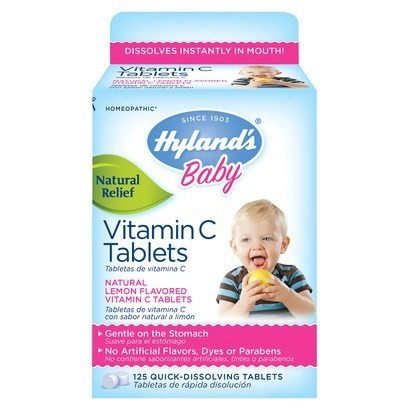 Hyland's Baby Vitamin C Tablets Immune System Support - 125 Quick-Dissolving Tablets