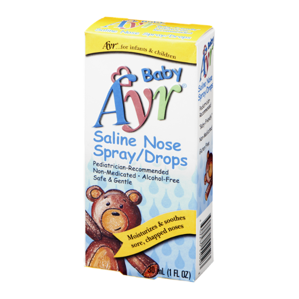 Ayr Baby Saline Nose Spray/Drops - Contains One 30 mL (1 Fl Oz) Bottle