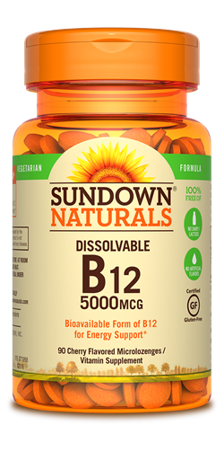 Sundown Naturals B12 5000mcg - 90 Microlozenges