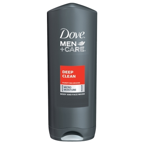 Dove Men+Care, Deep Clean, Purifying Grains, [Micro Moisture], Body and Face Wash - 13.5 oz