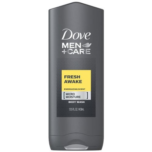 Dove Men+Care, Fresh Awake, Energizing Scent, [Micro Moisture], Body and Face Wash - 13.5 oz