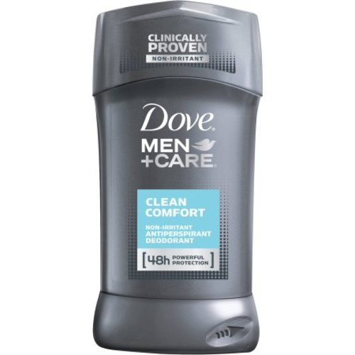 Dove Men+Care, Clean Comfort, Non-Irritant Antiperspirant Deodorant [48h Powerful Protection] - 2.7 oz (76 g)
