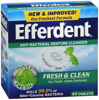 Efferdent Anti-bacterial Fresh & Clean - 44 tablets