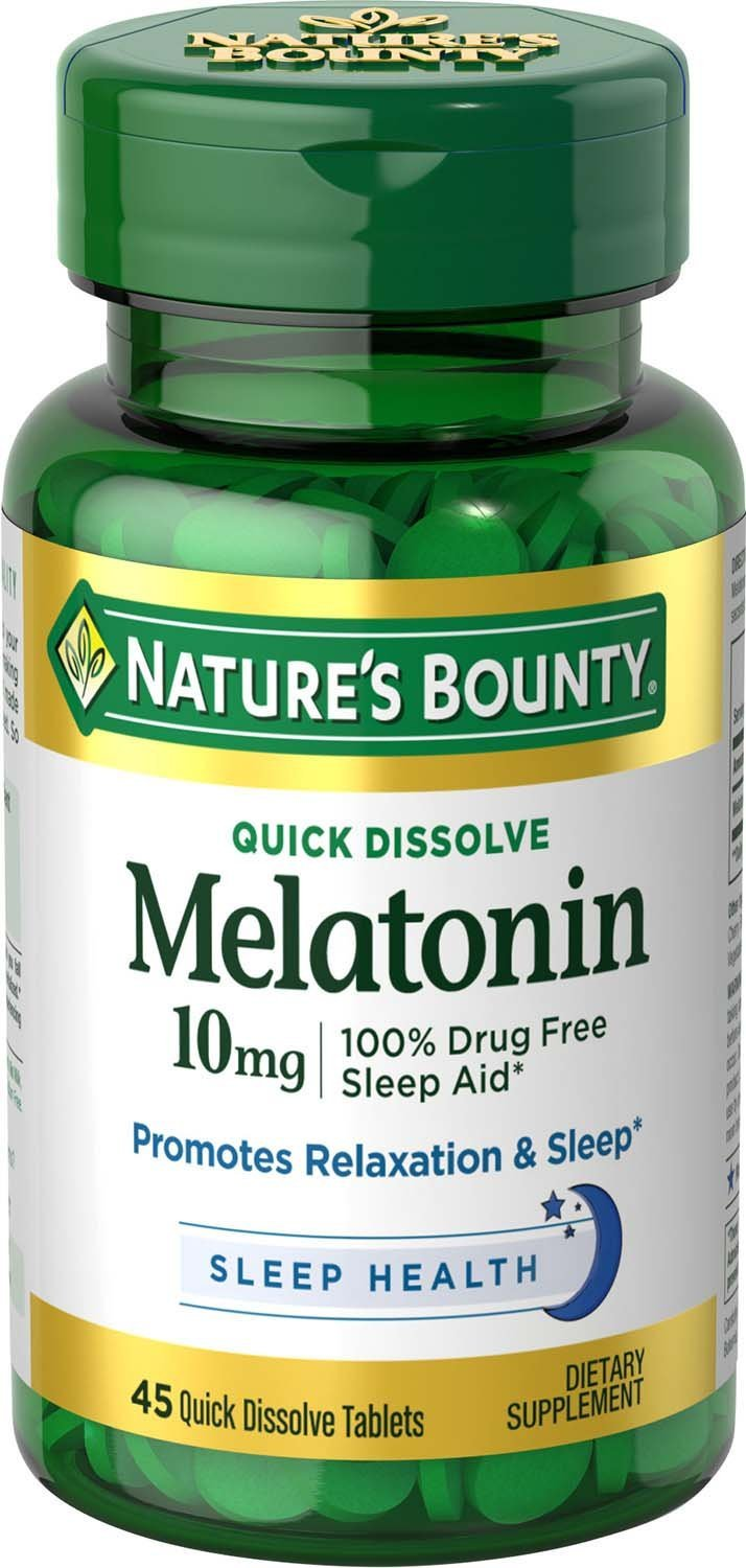 Nature's Bounty Melatonin 10 mg - 45 Quick Dissolve Tablets
