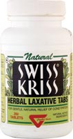 Swiss Kriss Herbal Laxative Tabs For Gentle, Natural Relief of Constipation - 120 Tablets