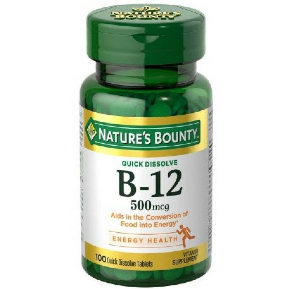 Nature's Bounty B-12 500 mg - 100 Quick Dissolve Tablets