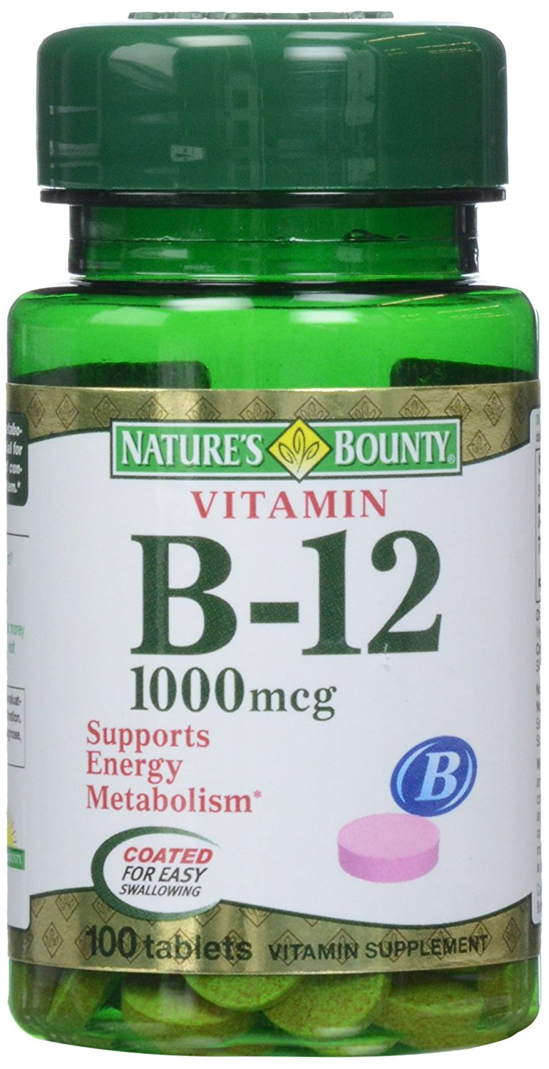 Nature's Bounty B-12 1000mg - 100 Coated tablets