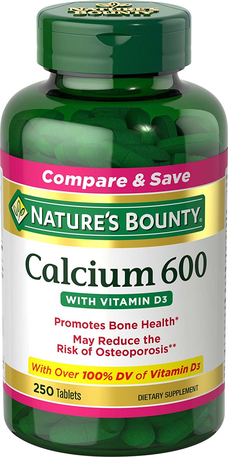 Nature's Bounty Calcium 600 W/ Vit D3 - 250 Tablets