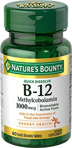 Nature's Bounty B-12 Methylcobalamin 1000 mcg - 60 Quick Dissolve Tablets
