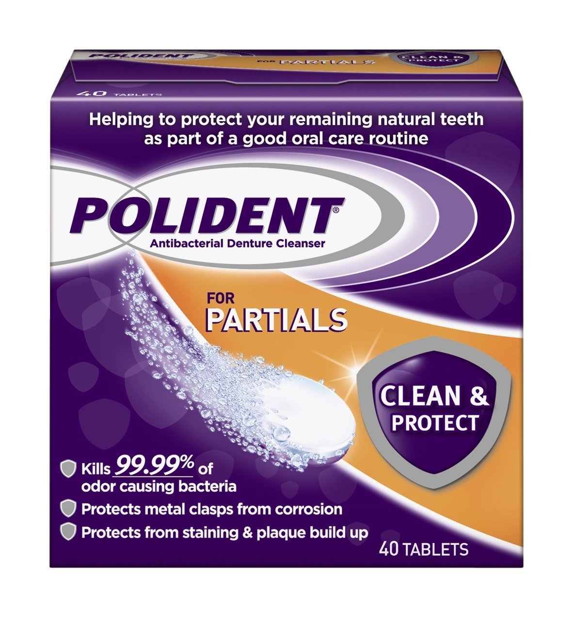 Polident For Partials Daily Cleanser - 40 Tablets