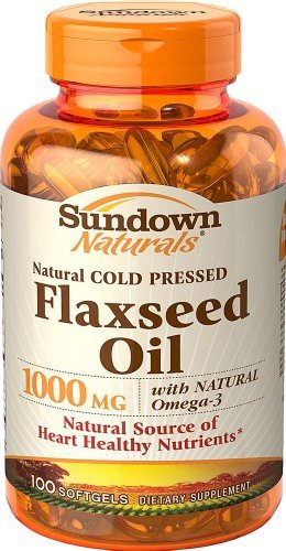 Sundown Naturals Flaxseed Oil 1000 mg - 100 Softgels