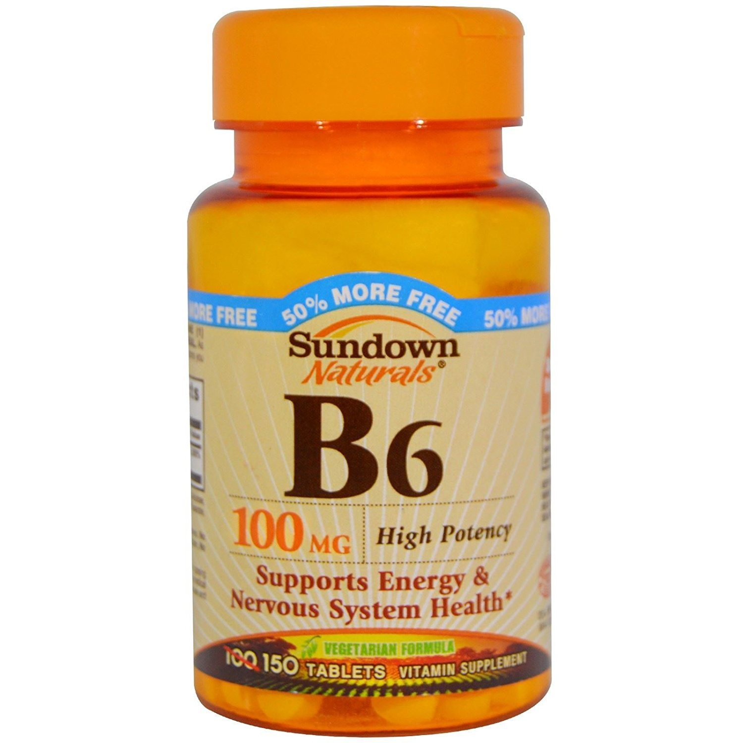 Sundown Naturals B6 100mg - 150 tablets