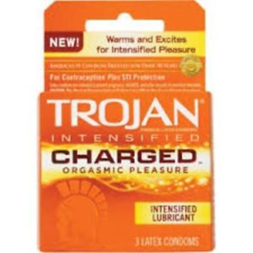 Trojan Intensified Charged Condoms - 3 CT