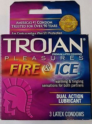 Trojan Fire And Ice Dual Action Lubricant Condom - 3 CT