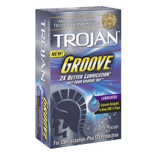 Trojan Groove Lubricated Condoms - 10 CT